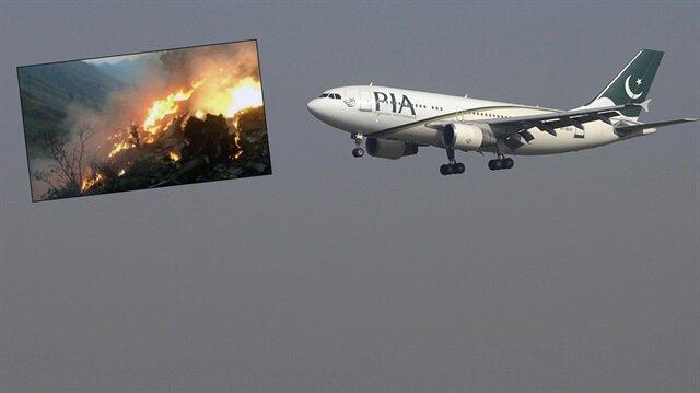 Pakistan'da düşen uçakta kurtulan yok