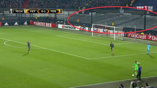 Feyenoord maçında dikkati çeken görüntü