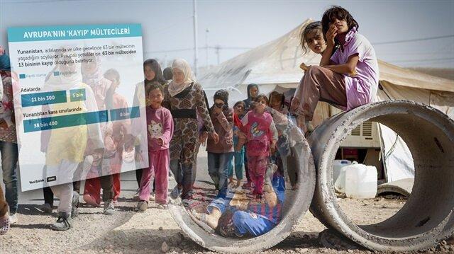 Yunanistan'da 13 bin mülteci kayıp