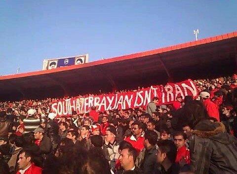 Traktorsazi takımının taraftarları daha önce de 'Güney Azerbaycan İran değildir' ifadelerinin yer aldığı bir pankart açmıştı.