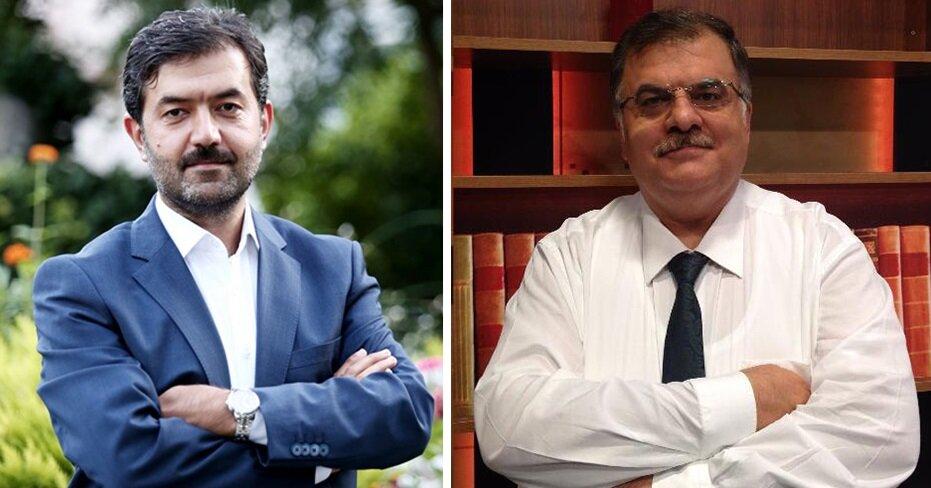 ÖNDER Başkanı Halit Bekiroğlu (solda) ve İlahiyatçı- Sosyolog Erol Erdoğan.