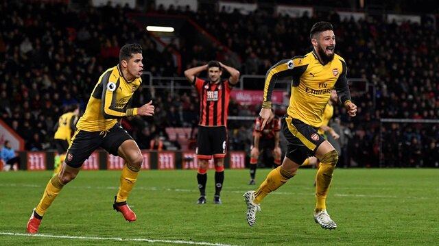 Arsenal, Giroud'nun uzatmalarda attığı golle 1 puanı kurtardı.