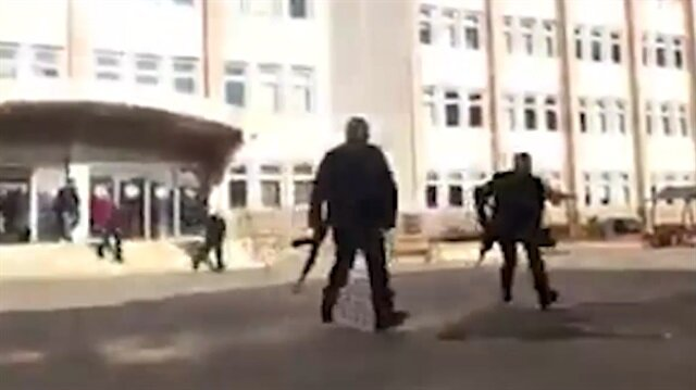 Gaziantep'te çatışma anı kamerada!
