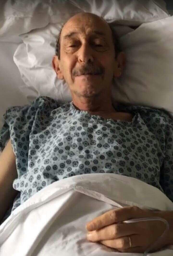 Hastanede tedavi altına alınan Ayberk Atilla böyle görüntülendi.