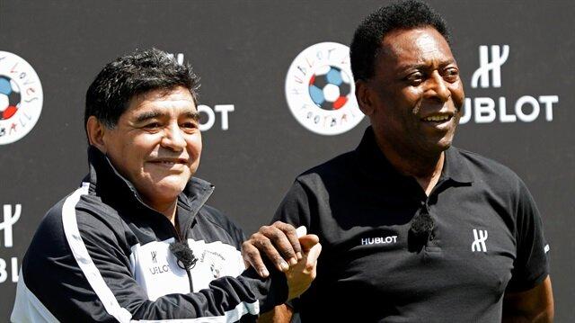 Maradona: Pele her zaman ikinci