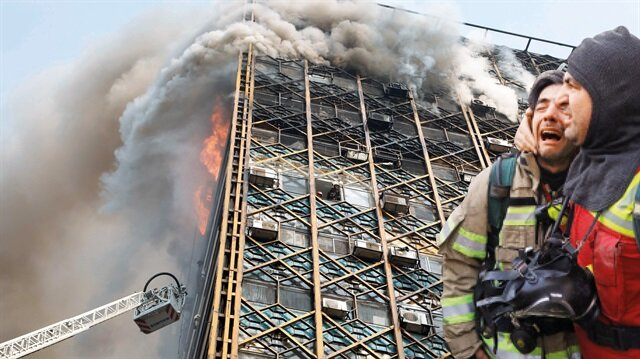 Tahran'da yangın faciası