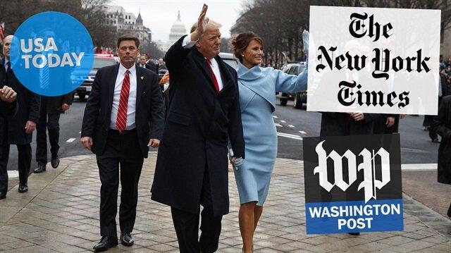 ABD Basını Trump'ın yemin törenini topa tuttu