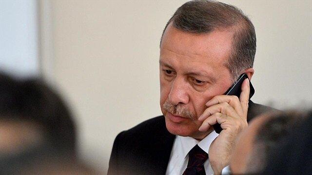 Erdoğan'dan<br/>taziye telefonu