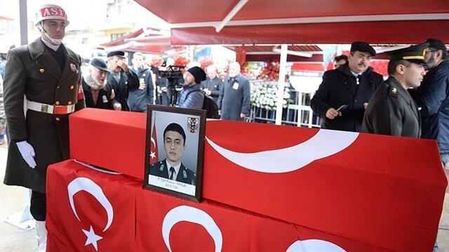 Şehit Teğmen Furkan Yayla için memleketi Giresun'da cenaze töreni düzenlendi.
