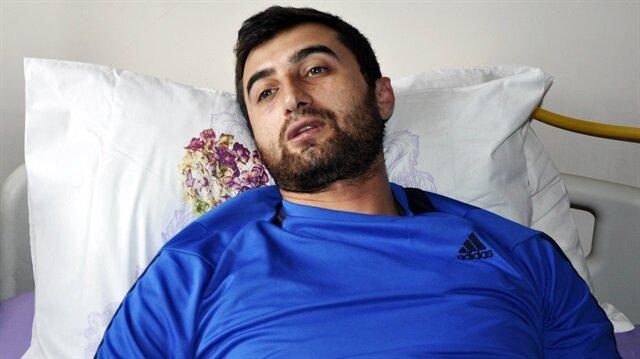 Amasya Valisi Salih Işık, El Bab bölgesinde yaralanan Uzman Çavuş Hasan Hüseyin Karataş'ı ziyaret etti.