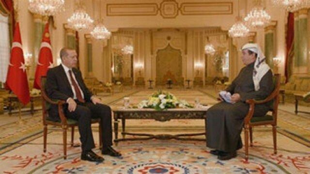 قناة العربية تجري مقابلة مع أردوغان