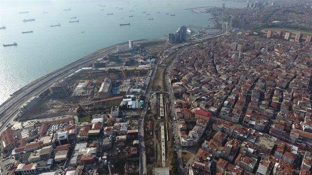 Halkalı-Sirkeci tren hattı havadan görüntülendi