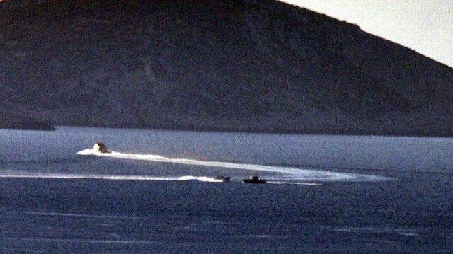 خفر السواحل التركية يبعد قارباً يونانياً انتهك المياه الإقليمية