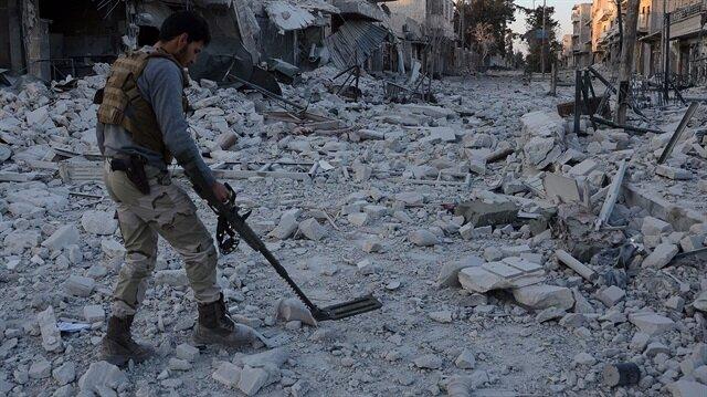 El-Bab'da DEAŞ mayınları temizleniyor