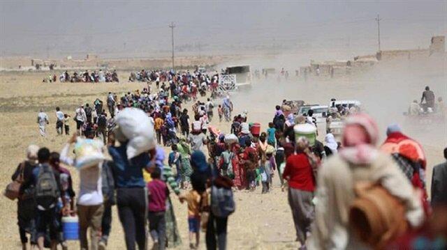 Suriyeli siviller rejim güçlerinden ÖSO bölgelerine kaçıyor