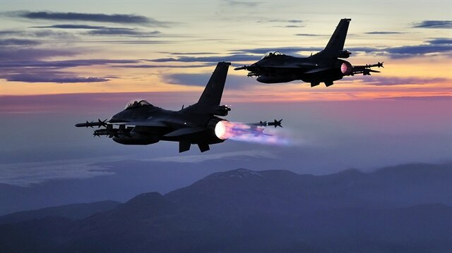 Kuzey Irak'ta 5 terör hedefi vuruldu