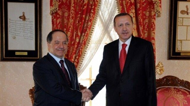 أردوغان وبارزاني يبحثان العلاقات الاقتصادية وعملية تحرير الموصل