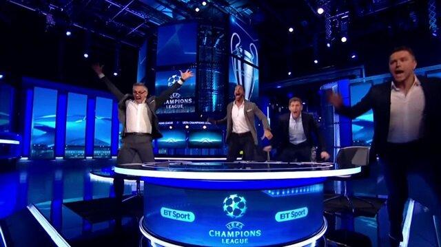 Gerrard ve Rio Ferdinand'ın 'Barça' sevinci