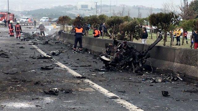 İstanbul'da helikopter düştü: 7 ölü