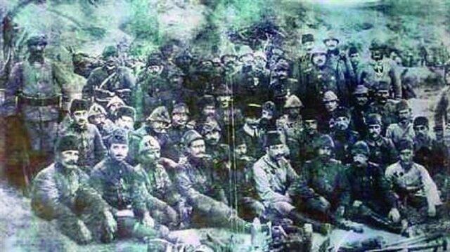 Çanakkale Cephesinin kahraman askerleri.