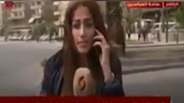 Esed'in televizyonunda canlı yayında bomba sesleri yükseldi