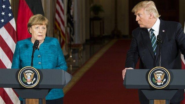 Almanya Başbakanı Angela Merkel, ABD'nin başkenti Washington'da Başkan Donald Trump ile görüştü.