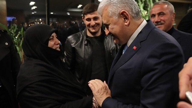 Başbakan Yıldırım, Şerife Boz'la görüştü
