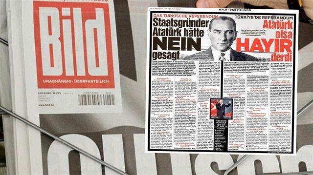 Bild'den 'Atatürk'lü 'hayır' propagandası