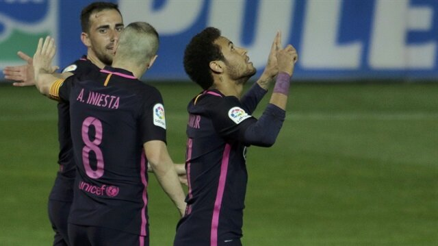 Neymar Barcelona formasıyla 100. golünü attı
