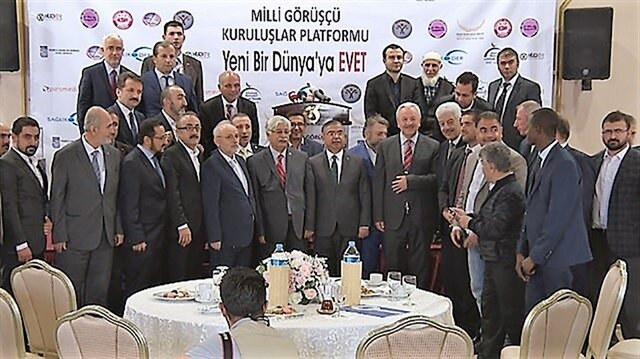 Milli Görüşçü Kuruluşlar Platformu'nun Yeni Bir Dünyaya Evet programına Milli Eğitim Bakanı İsmet Yılmaz da katıldı.