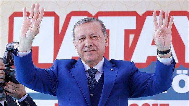 Cumhurbaşkanı Recep Tayyip Erdoğan Hatay'da konuştu.