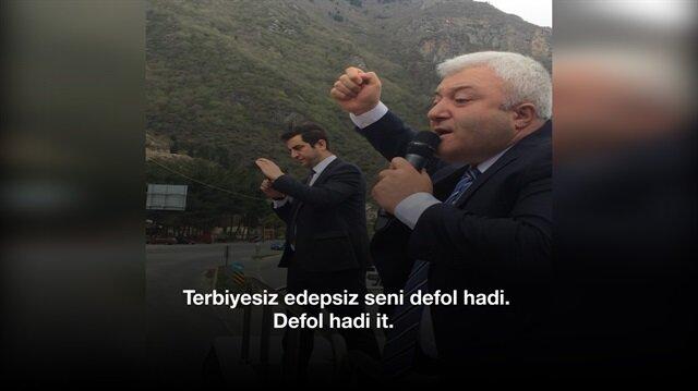 Trabzon mitinginde vatandaşa hakaretler yağdırdı!