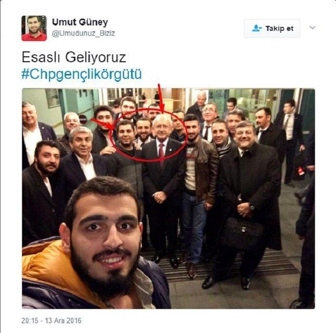 DHKP-C'li Umut Güney çekilen bir fotoğrafta CHP Kemal Kılıçdaroğlu ile yan yana yer aldığı görülüyor.
