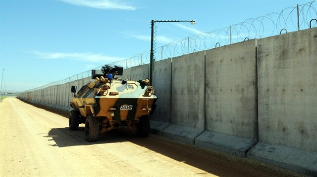 Barrier constructed by Turkey across its southern borders with Syria