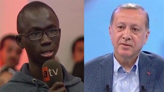 Senagalli öğrencinin Erdoğan'a hitabı büyük alkış aldı