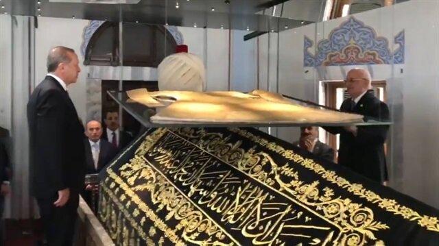 Cumhurbaşkanı Erdoğan Yavuz'un kaftanının açılışını gerçekleştirdi