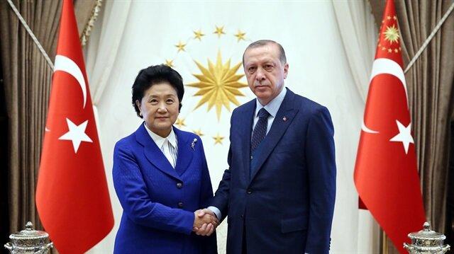 أردوغان يستقبل نائبة رئيس الوزراء الصيني
