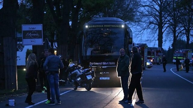 Three small explosions hit Borussia Dortmund's team bus last week, a few hours before a Champions League quarter-final in the northwestern Germany city.