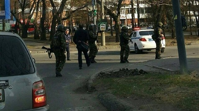 The incident happened at an FSB office in the Khabarovsk region.