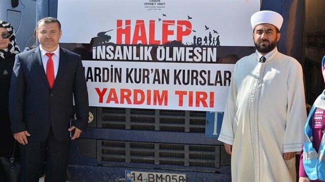 """""""ماردين"""" التركية ترسل 22 شاحنة مساعدات للمحتاجين في سوريا"""