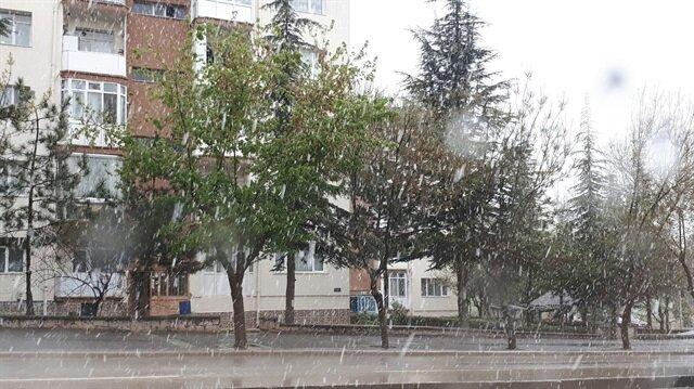 Eskişehir'de kar yağışları etkili oluyor