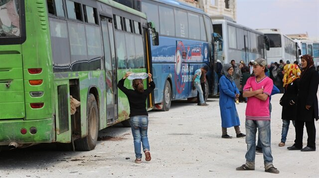 Evacuations in Aleppo.