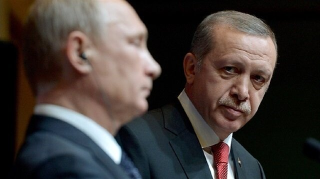 Russian President Vladimir Putin (L) and Turkish President Tayyip Erdoğan (R).