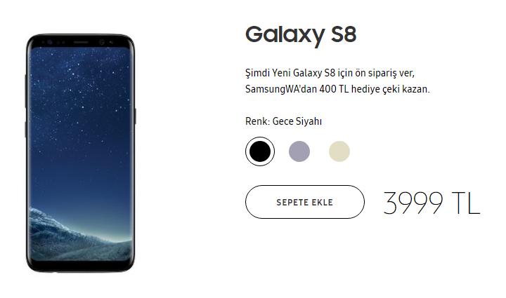 Samsung Galaxy S8'in indirimli fiyatı ne kadar?