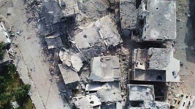 الأناضول ترصد من الجو الدمار الناتج عن قصف أحياء درعا جنوبي سوريا