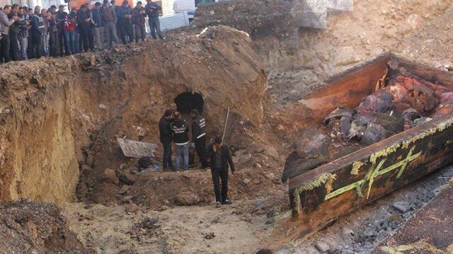 Ardahan'daki kazıda Rus subaya ait mezar çıktı