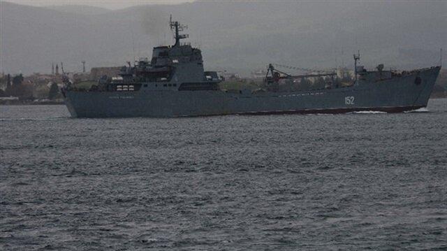 غرق سفينة حربية روسية بعد اصطدامها بسفينة شحن بالقرب من إسطنبول.. وإنقاذ 78 جندياً