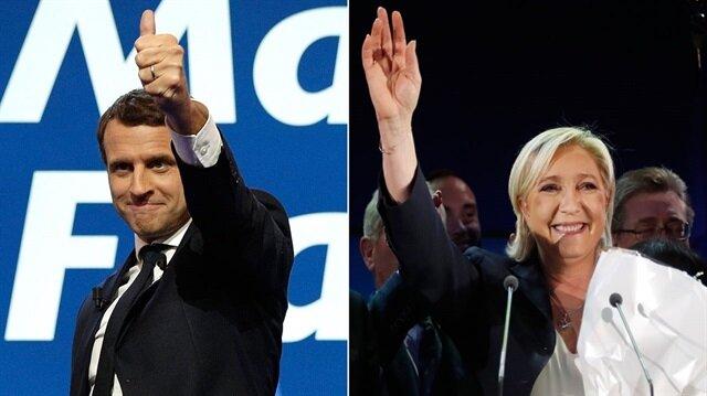 ماكرون ولوبان إلى الجولة الثانية للرئاسية الفرنسية