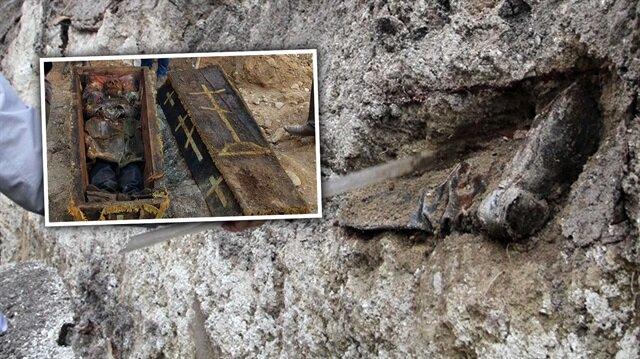 Ardahan'da asker elbiseleriyle gömülü iskeletler bulundu