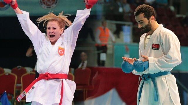 Milli karateciler Uğur Aktaş ve Tuğba Yakan Avrupa Şampiyonu oldu.